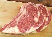 Bone-in Rib Steaks ($14.99/lb.)