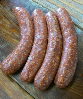 Hot Italian Sausage Linked ($8.59/lb.)